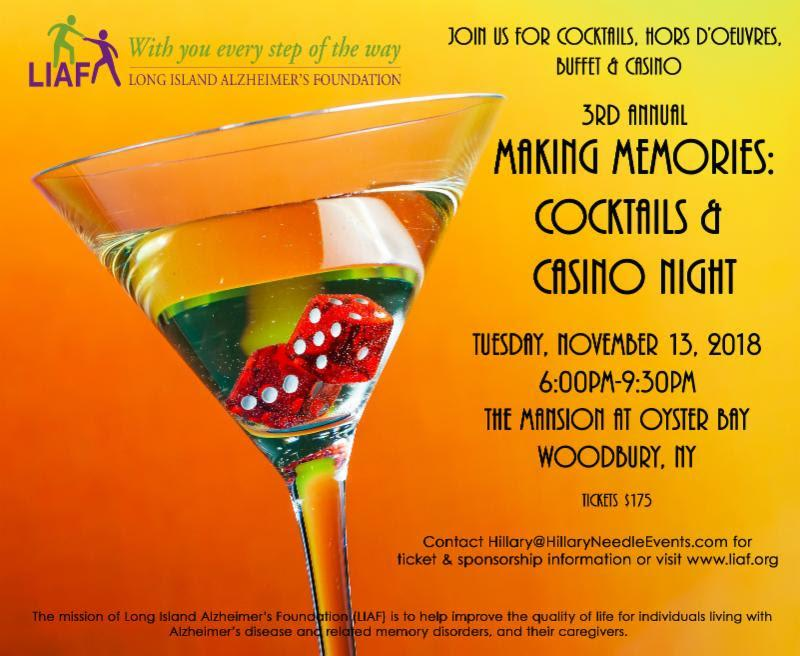 3rd Annual Making Memories: Cocktails & Casino Night